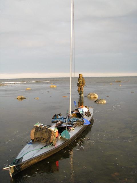 Kajak składany NERIS 2 na Morzu Białym. Ocean Arktyczny/