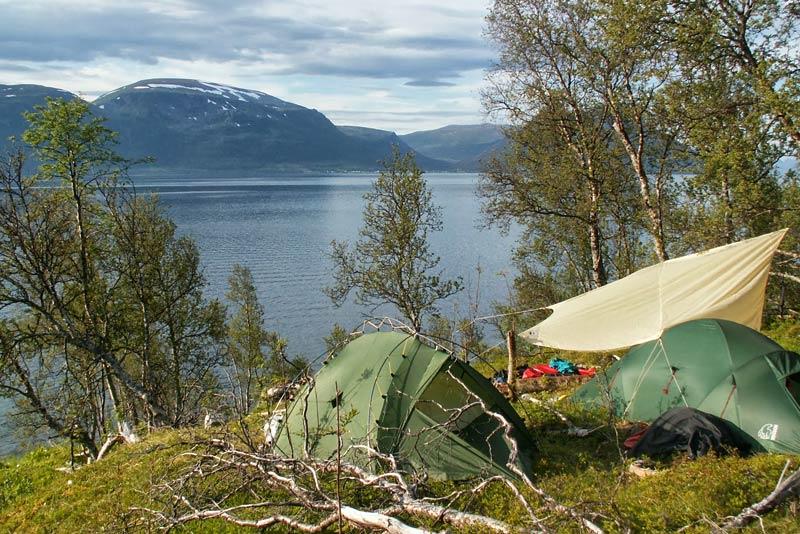 Obóz - kajakami składanymi w Norwegi