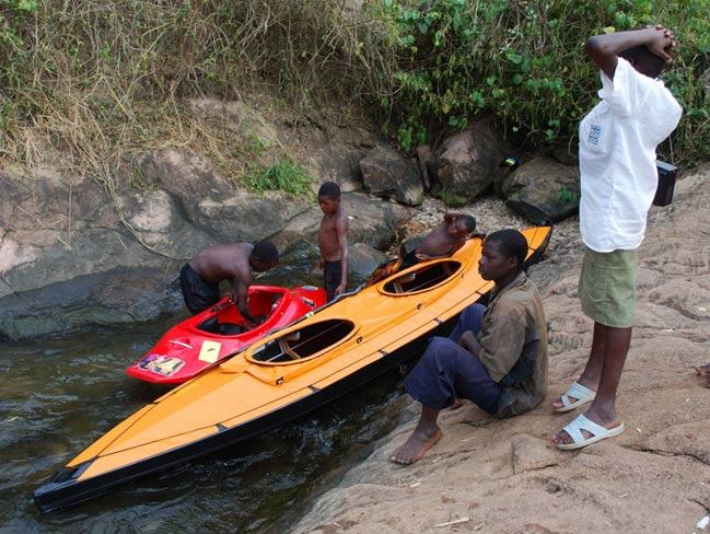 Kajak składany w Afryce - Uganda