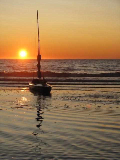 Kajak składany neris walkure-2 zachód słońca