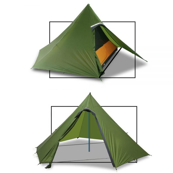 Namiot Luxe Outdor Sil Hexpeak F6a